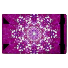 Wonderful Star Flower Painted On Canvas Apple Ipad 3/4 Flip Case by pepitasart