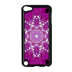 Wonderful Star Flower Painted On Canvas Apple Ipod Touch 5 Case (black) by pepitasart