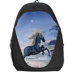 Wonderful Wild Fantasy Horse On The Beach Backpack Bag by FantasyWorld7