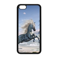 Wonderful Wild Fantasy Horse On The Beach Apple Iphone 5c Seamless Case (black) by FantasyWorld7