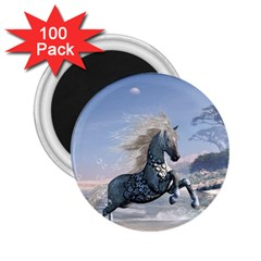 Wonderful Wild Fantasy Horse On The Beach 2 25  Magnets (100 Pack)  by FantasyWorld7