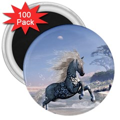 Wonderful Wild Fantasy Horse On The Beach 3  Magnets (100 Pack)