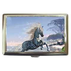 Wonderful Wild Fantasy Horse On The Beach Cigarette Money Case by FantasyWorld7