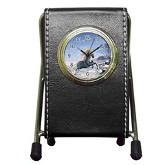 Wonderful Wild Fantasy Horse On The Beach Pen Holder Desk Clock by FantasyWorld7