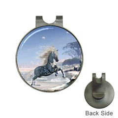 Wonderful Wild Fantasy Horse On The Beach Hat Clips With Golf Markers by FantasyWorld7