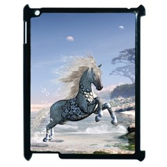 Wonderful Wild Fantasy Horse On The Beach Apple Ipad 2 Case (black) by FantasyWorld7