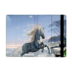 Wonderful Wild Fantasy Horse On The Beach Apple Ipad Mini Flip Case by FantasyWorld7