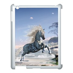 Wonderful Wild Fantasy Horse On The Beach Apple Ipad 3/4 Case (white) by FantasyWorld7