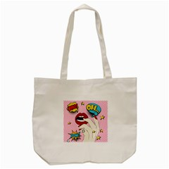 Pop Art   Tote Bag (cream) by Valentinaart