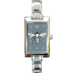 Pop Art  Bee Rectangle Italian Charm Watch