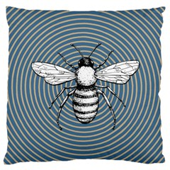 Pop Art  Bee Large Flano Cushion Case (one Side) by Valentinaart