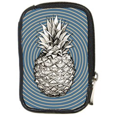 Pop Art  Pineapple  Compact Camera Leather Case