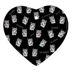 Llama Pattern Ornament (heart)