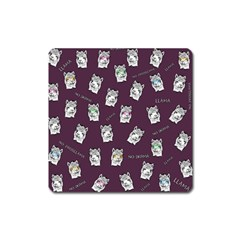 Llama Pattern Square Magnet by Valentinaart