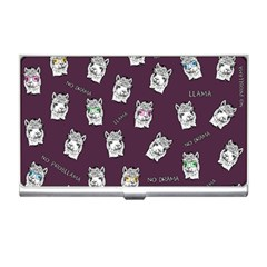 Llama Pattern Business Card Holder by Valentinaart
