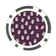 Llama Pattern Poker Chip Card Guard by Valentinaart