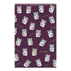 Llama Pattern Shower Curtain 48  X 72  (small)  by Valentinaart