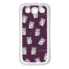 Llama Pattern Samsung Galaxy S3 Back Case (white)