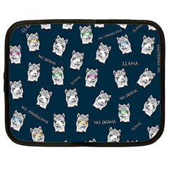 Llama Pattern Netbook Case (large) by Valentinaart
