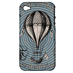 Vintage Adventure Expedition Apple Iphone 4/4s Hardshell Case (pc+silicone) by Valentinaart