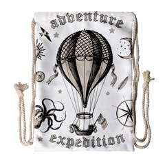 Vintage Adventure Expedition Drawstring Bag (large)