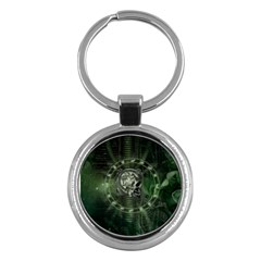 Awesome Creepy Mechanical Skull Key Chains (round)  by FantasyWorld7
