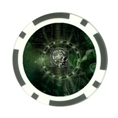 Awesome Creepy Mechanical Skull Poker Chip Card Guard (10 Pack) by FantasyWorld7