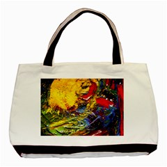 Yellow Chik 3 Basic Tote Bag by bestdesignintheworld