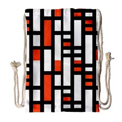 Linear Sequence Pattern Design Drawstring Bag (large) by dflcprints