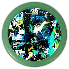 Brain Reflections 6 Color Wall Clock