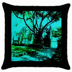 Hot Day In Dallas 50 Throw Pillow Case (black) by bestdesignintheworld