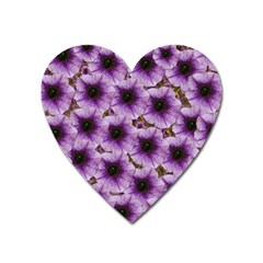 The Sky Is Not The Limit For Beautiful Big Flowers Heart Magnet by pepitasart