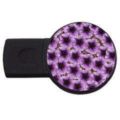 The Sky Is Not The Limit For Beautiful Big Flowers Usb Flash Drive Round (2 Gb) by pepitasart