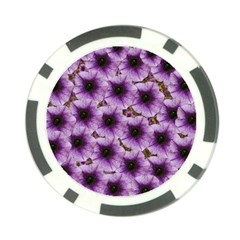 The Sky Is Not The Limit For Beautiful Big Flowers Poker Chip Card Guard by pepitasart