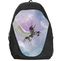 Cute Little Pegasus In The Sky, Cartoon Backpack Bag by FantasyWorld7