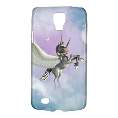Cute Little Pegasus In The Sky, Cartoon Samsung Galaxy S4 Active (i9295) Hardshell Case by FantasyWorld7