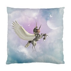 Cute Little Pegasus In The Sky, Cartoon Standard Cushion Case (two Sides) by FantasyWorld7