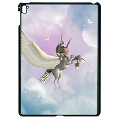 Cute Little Pegasus In The Sky, Cartoon Apple Ipad Pro 9 7   Black Seamless Case by FantasyWorld7