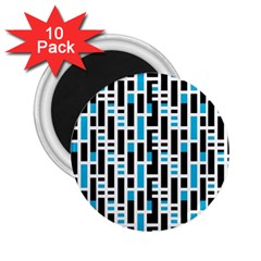 Linear Sequence Pattern Design 2 25  Magnets (10 Pack)  by dflcprintsclothing