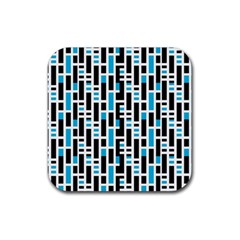 Linear Sequence Pattern Design Rubber Coaster (square)  by dflcprintsclothing