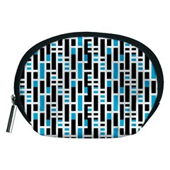 Linear Sequence Pattern Design Accessory Pouch (medium) by dflcprintsclothing