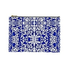 Red The Print Cosmetic Bag (large) by MRTACPANS