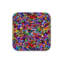 J 5 Rubber Square Coaster (4 Pack)