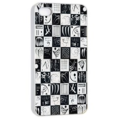 J 8 Apple Iphone 4/4s Seamless Case (white) by ArtworkByPatrick1