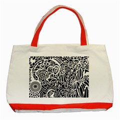 Maze Draw Classic Tote Bag (red)