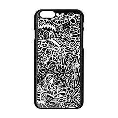 Maze Draw Apple Iphone 6/6s Black Enamel Case
