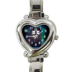 The Time Traveler Heart Italian Charm Watch  by Contest1748470