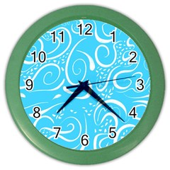 Scribble Reason Design Pattern Color Wall Clock