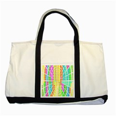 Abstract Squares Background Network Two Tone Tote Bag