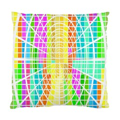 Abstract Squares Background Network Standard Cushion Case (two Sides)